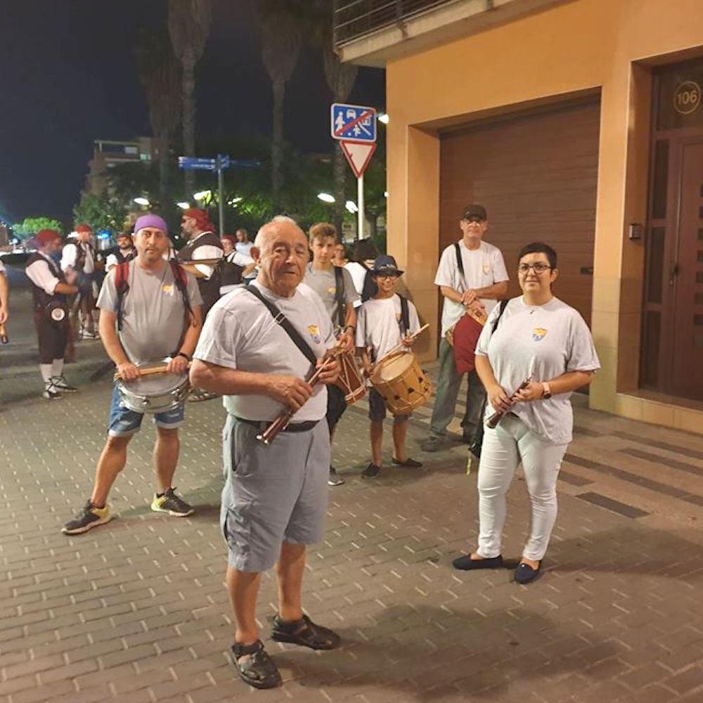 Aires de Gralla acompanyant els Trabucaires del Comú durant la Festa Major de 2019