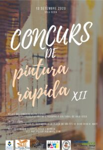 Cartell del XII Concurs de pintura ràpida